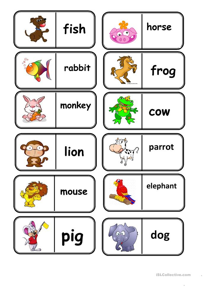 Domino Animals Worksheet Free Esl Printable Worksheets