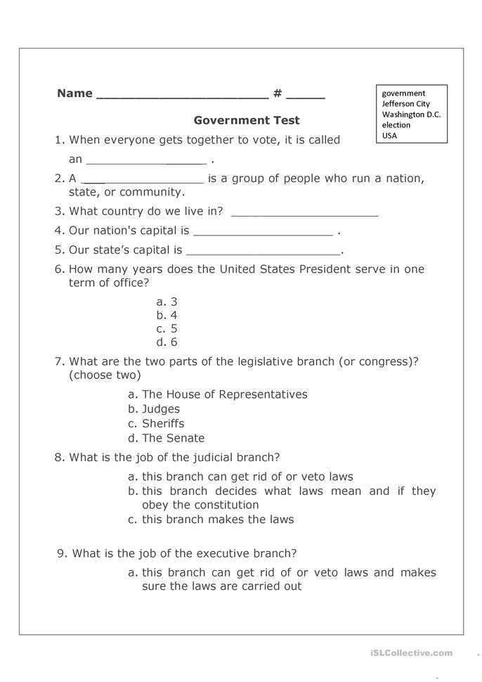 All Worksheets Government Worksheets Free Printable Preeschool – Participation in Government Worksheets