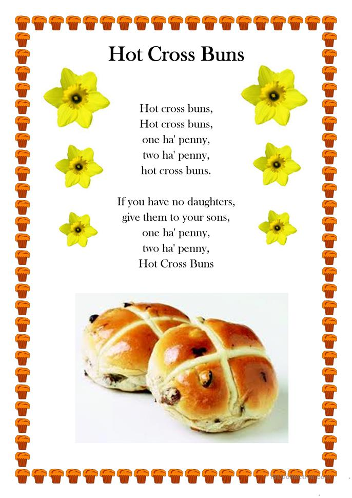 Hot Cross Buns worksheet - Free ESL printable worksheets made by ...