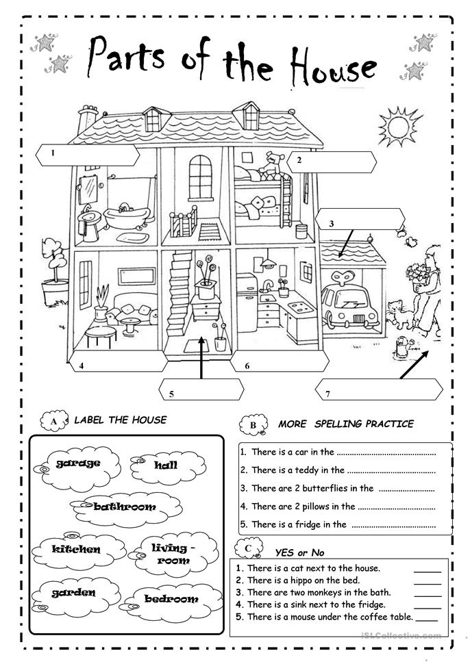 ... the house worksheet - Free ESL printable worksheets made by teachers