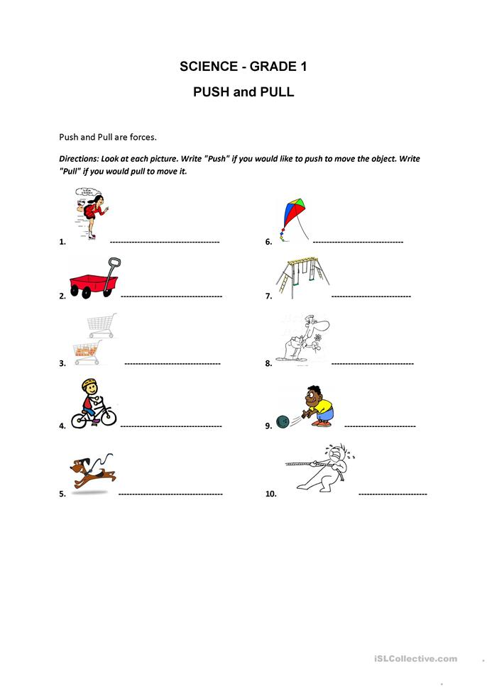 Printables Push And Pull Worksheets push and pull worksheet free esl printable worksheets made by teachers
