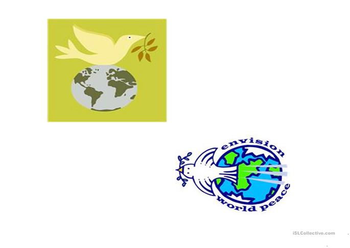 the International Day Of Peace power point presentation - ESL worksheets