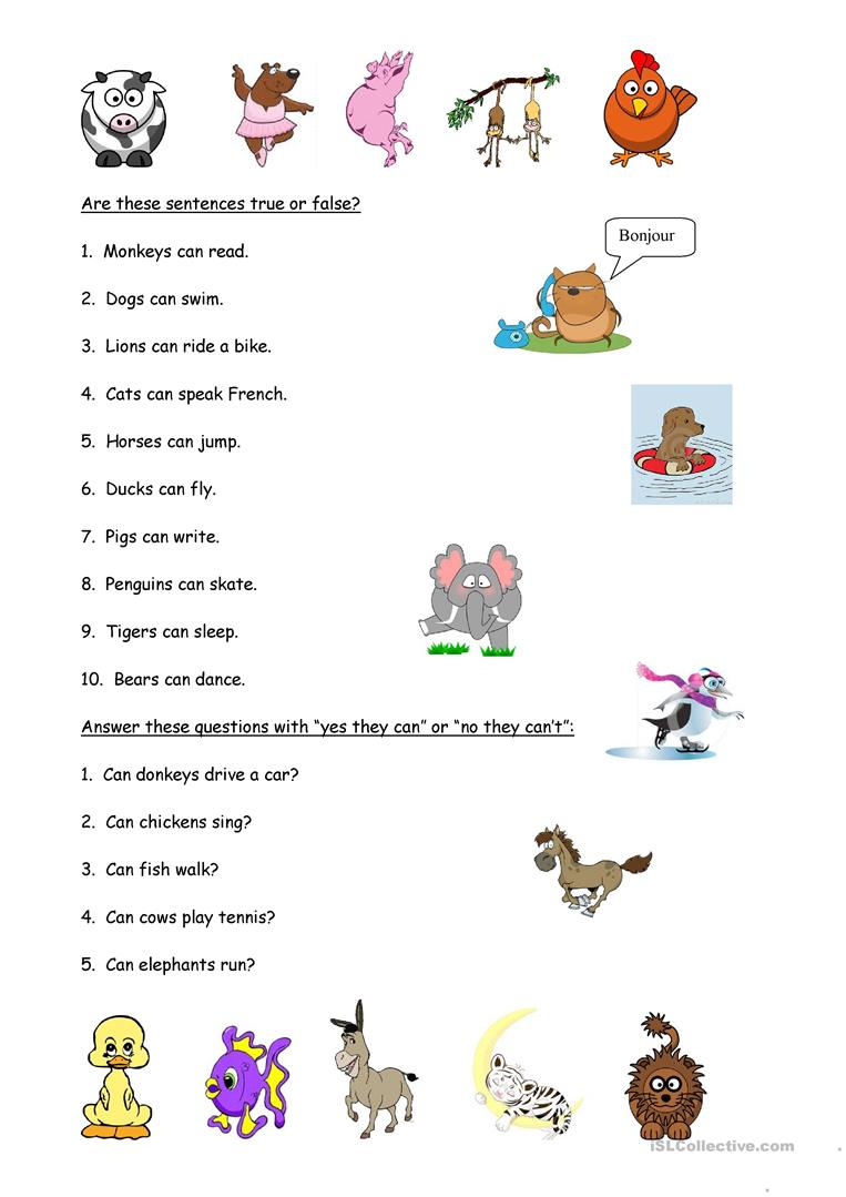 animals and abilities worksheet free esl printable worksheets made by teachers. Black Bedroom Furniture Sets. Home Design Ideas