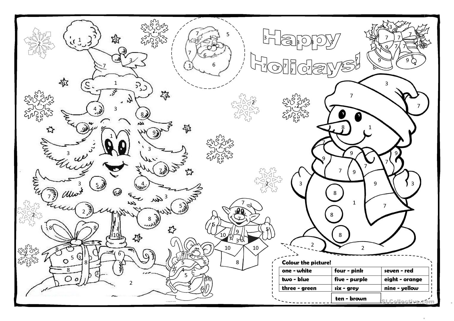 christmas english coloring pages - photo#2