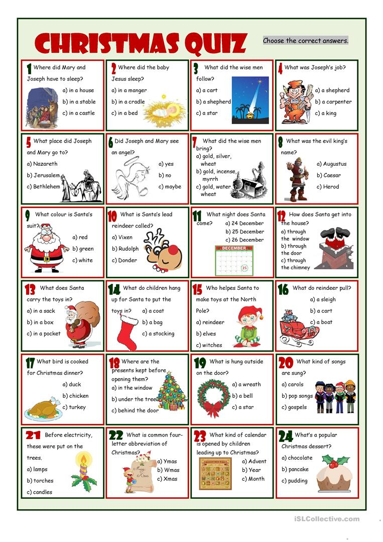 Old Fashioned image pertaining to free printable christmas trivia