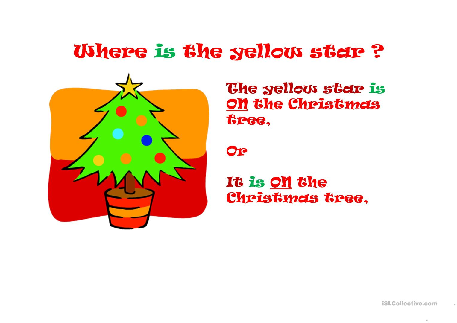 Christmas vocabulary, pronouns and prepositions worksheet - Free ESL ...