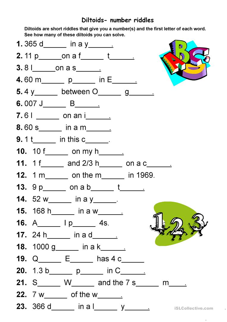 diltoids number letter puzzles worksheet free esl printable worksheets made by teachers. Black Bedroom Furniture Sets. Home Design Ideas