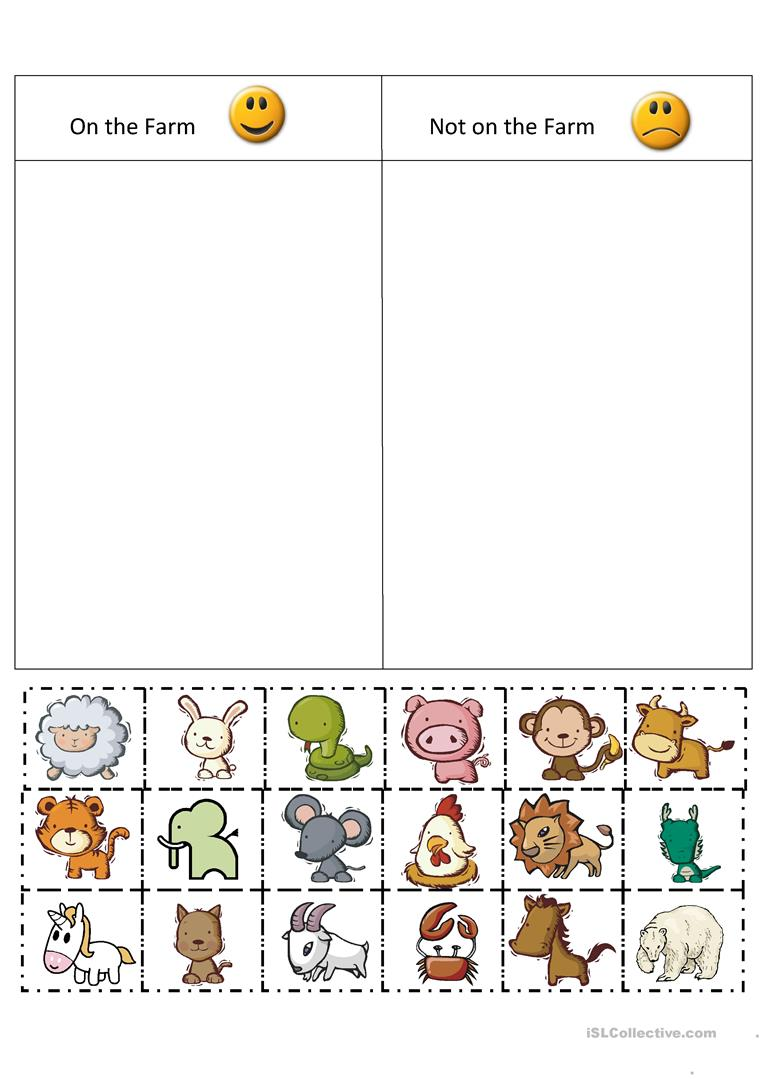132 Free Esl Farm Animals Worksheets