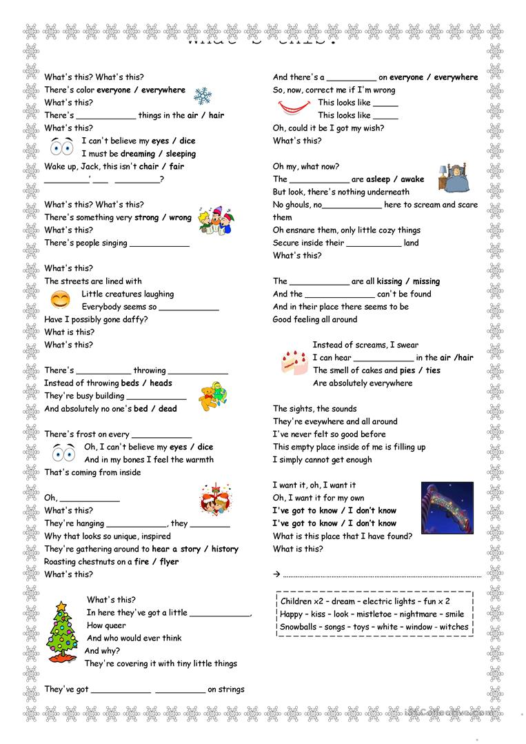 What\'s This? The Nightmare before Christmas worksheet - Free ESL ...