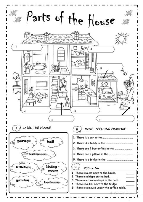 Parts Of The House Worksheet Free Esl Printable Worksheets Made By