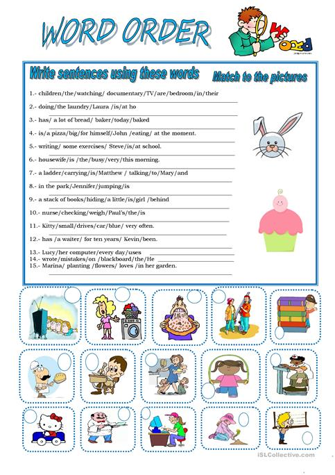 Word Order Worksheet Free Esl Printable Worksheets Made By Teachers