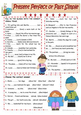 Present Perfect or Past Simple Worksheet. - ESL Lounge