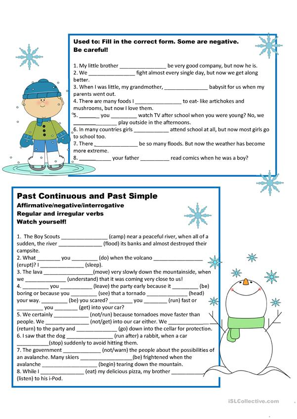 A1 Practice Test: Past Simple and Past Continuous