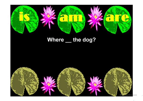 Auxiliary Verbs with Froggy a cursor and click game