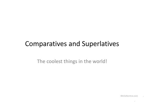 Compartatives and Superlatives