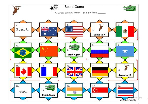 countries board game