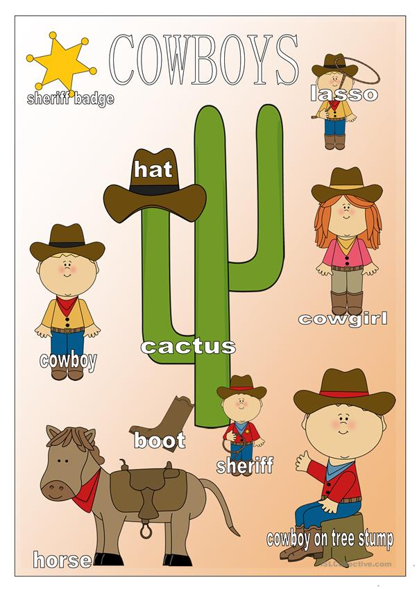 Cover for Cowboy Worksheets
