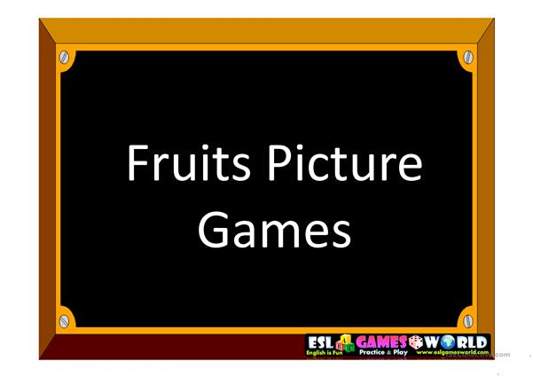 Fruits Hidden Pictures Game