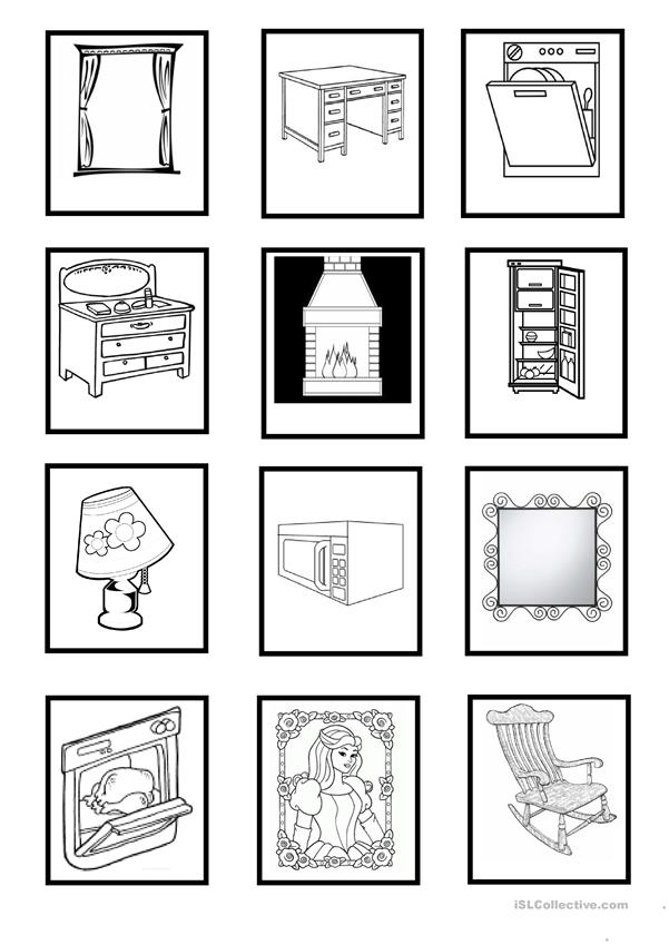 Furniture & Household Objects - cards (Set 2)