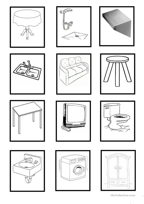 Furniture & Household Objects - cards (Set 3)