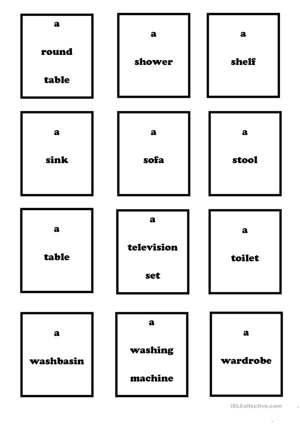 Furniture & Household Objects - vocabulary (Set 3)