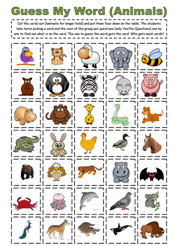 Guess My Word (Animals)