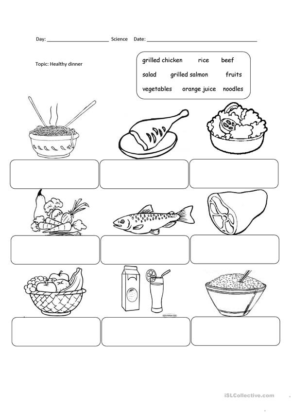 Healthy Food - English ESL Worksheets