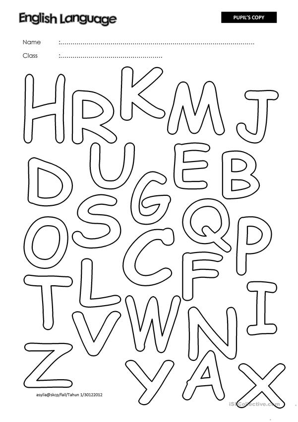 Identify and Color The Alphabets