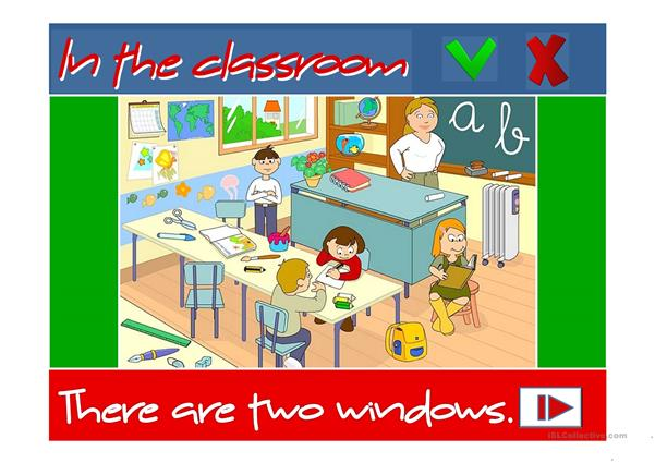 In the classroom - There is / There are
