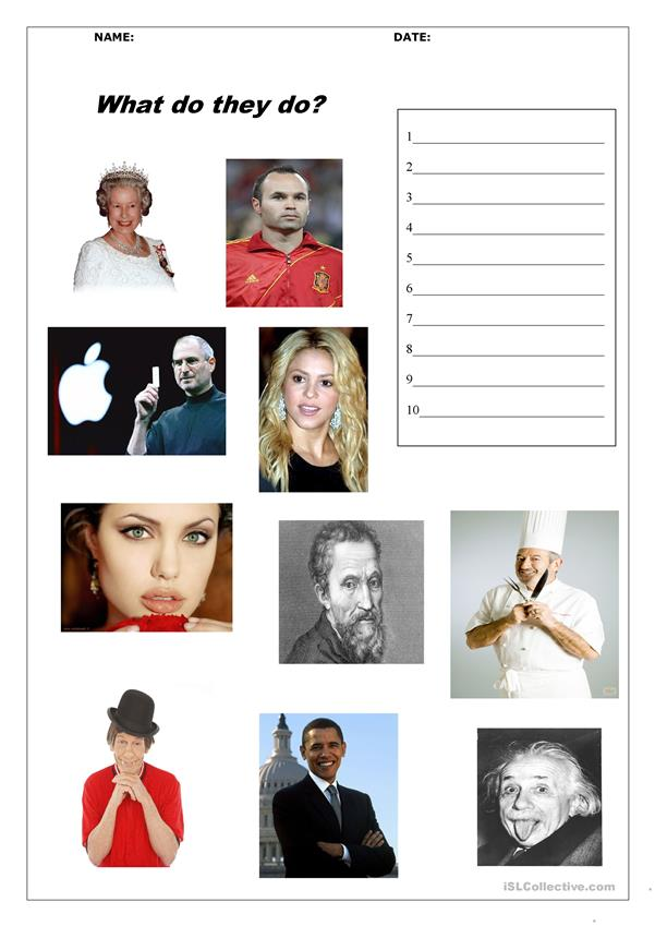 JOBS FAMOUS PEOPLE