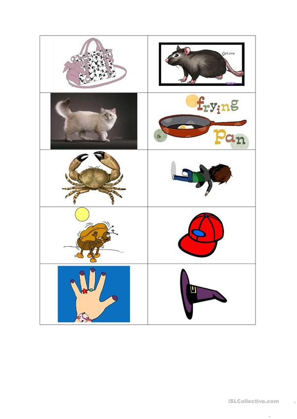 jolly phonics method words with A