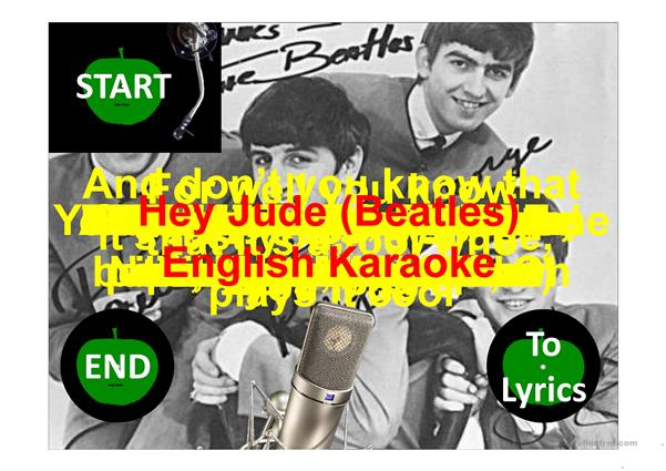 Karaoke Hey Jude (Beatles song) with background music