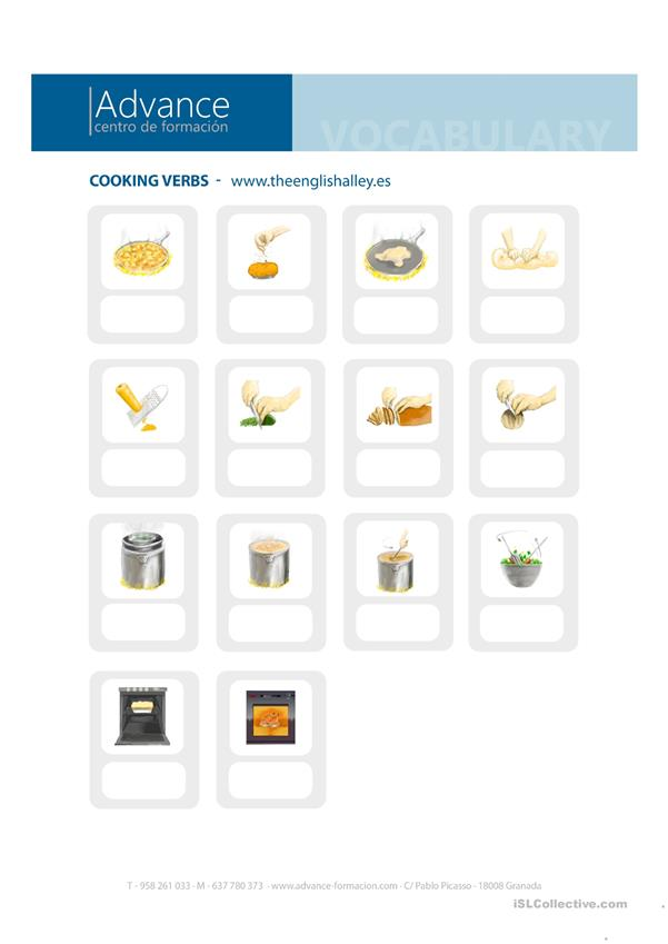 Kitchen vocabulary for students