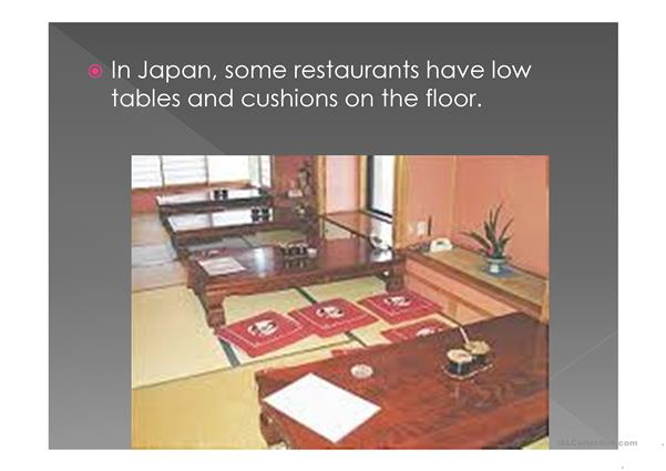 manners and the table in Japan