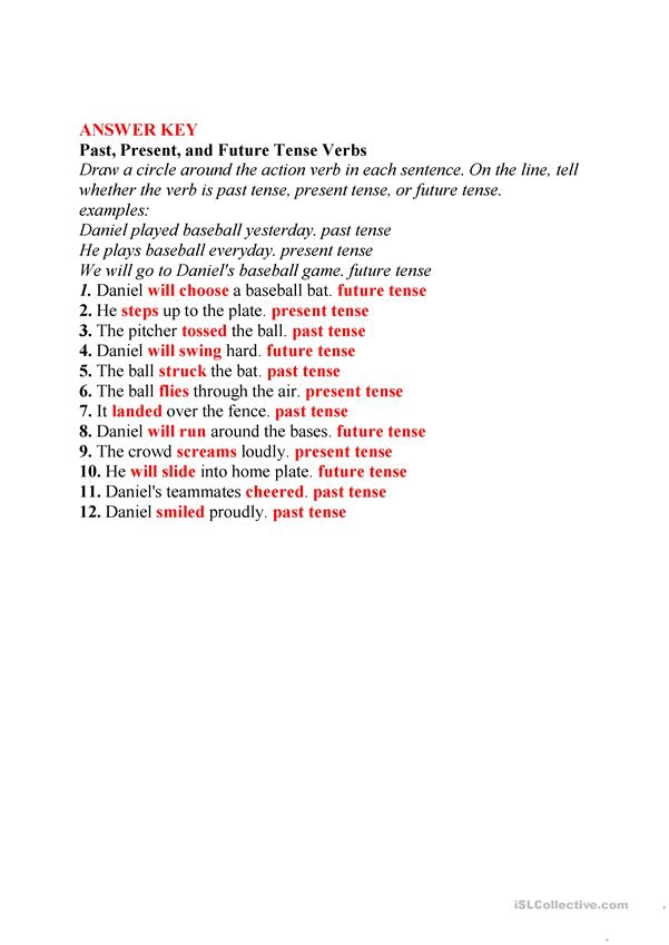 mixed tense worksheet