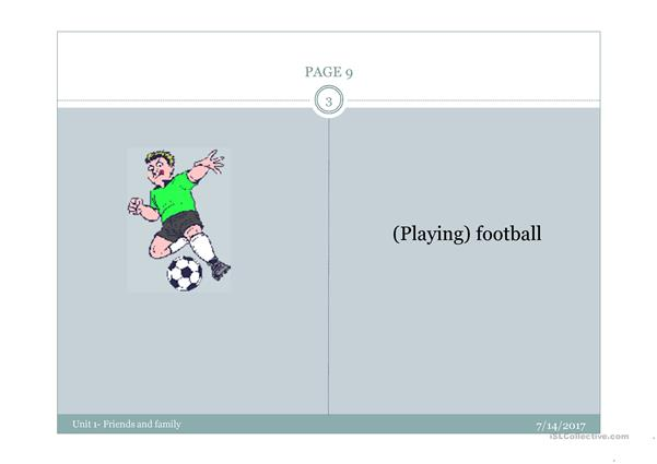 Powerpoint sports and activities