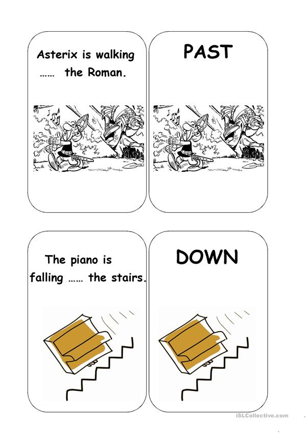 Prepositions Flash Cards 2