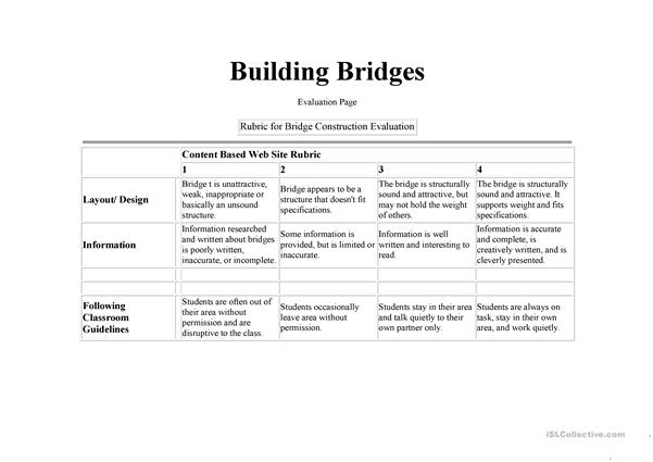 Rubric: for Building something