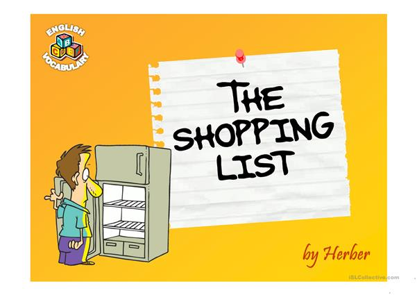 Shopping list PPT