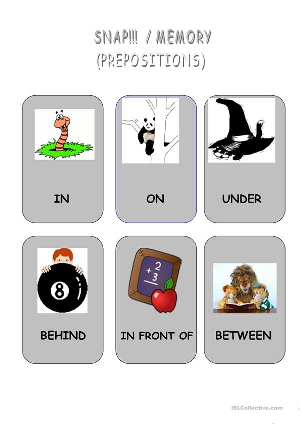 Snap/Memory Prepositions
