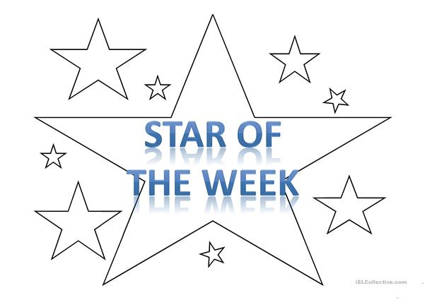 'Star of the week' template