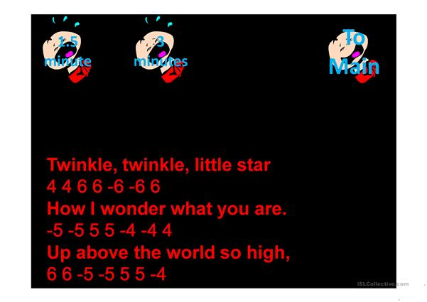 Twinkle Twinkle Little Star Karoake with Harmonica