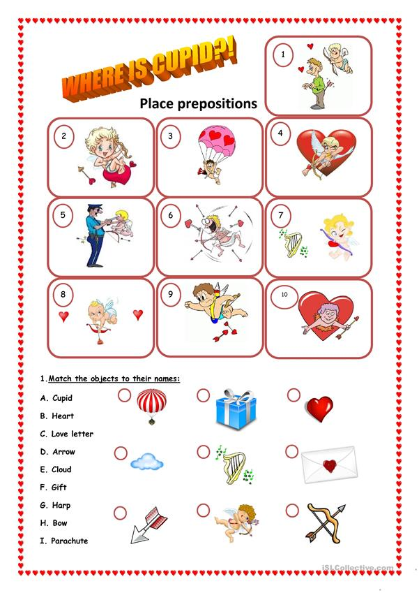 Where is Cupid?! Place prepositions