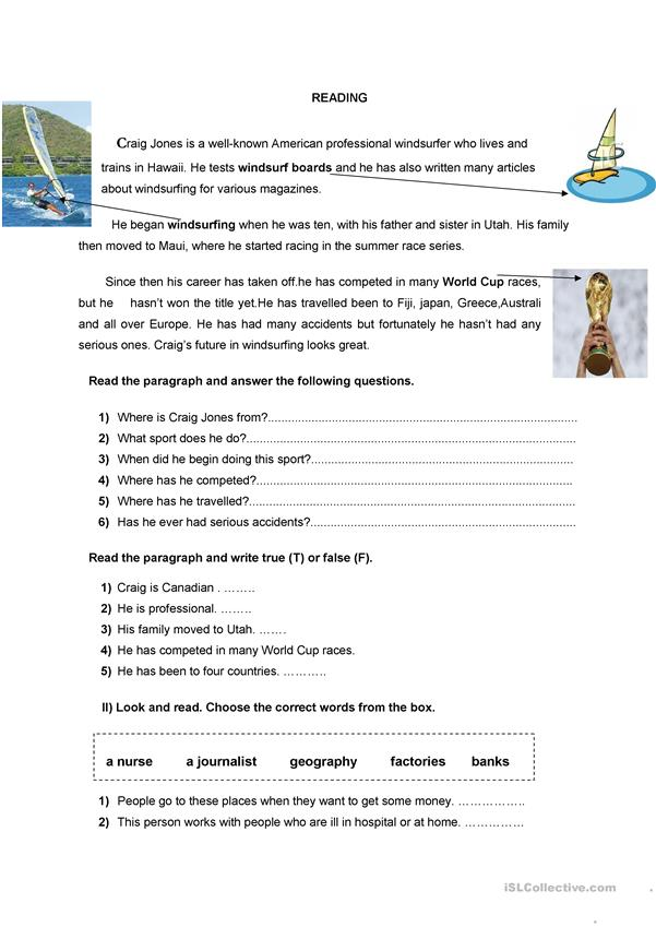 worksheet for 5th /6th graders