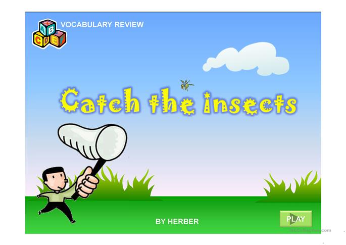 CATCH THE INSECTS PPT | FREE ESL Powerpoint presentations, exercises