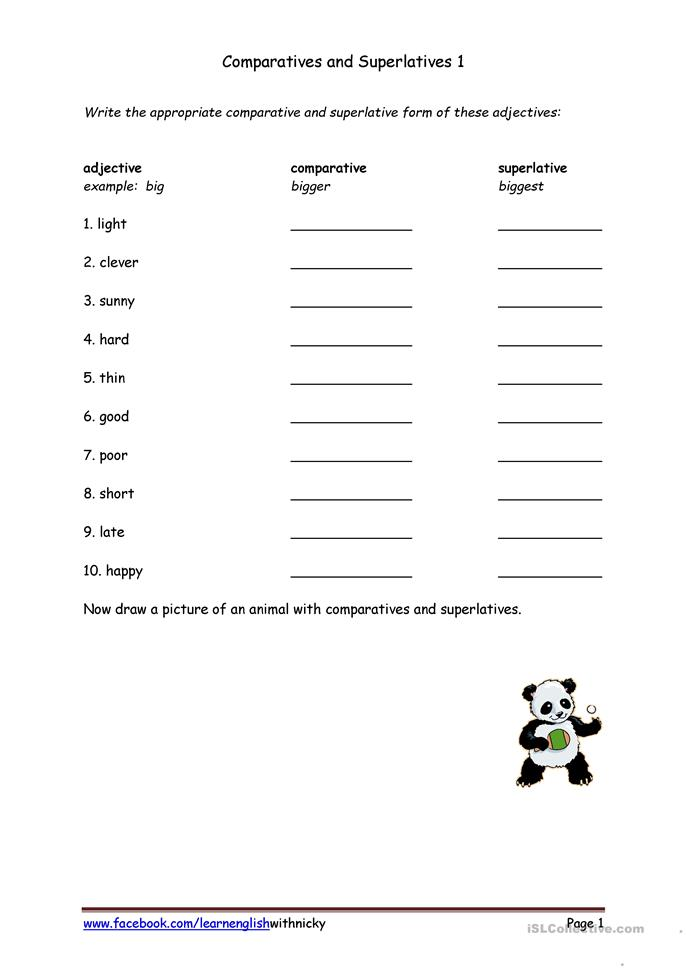 28 Free Printable Comparative And Superlative Worksheets 631 – Comparative Superlative Worksheet