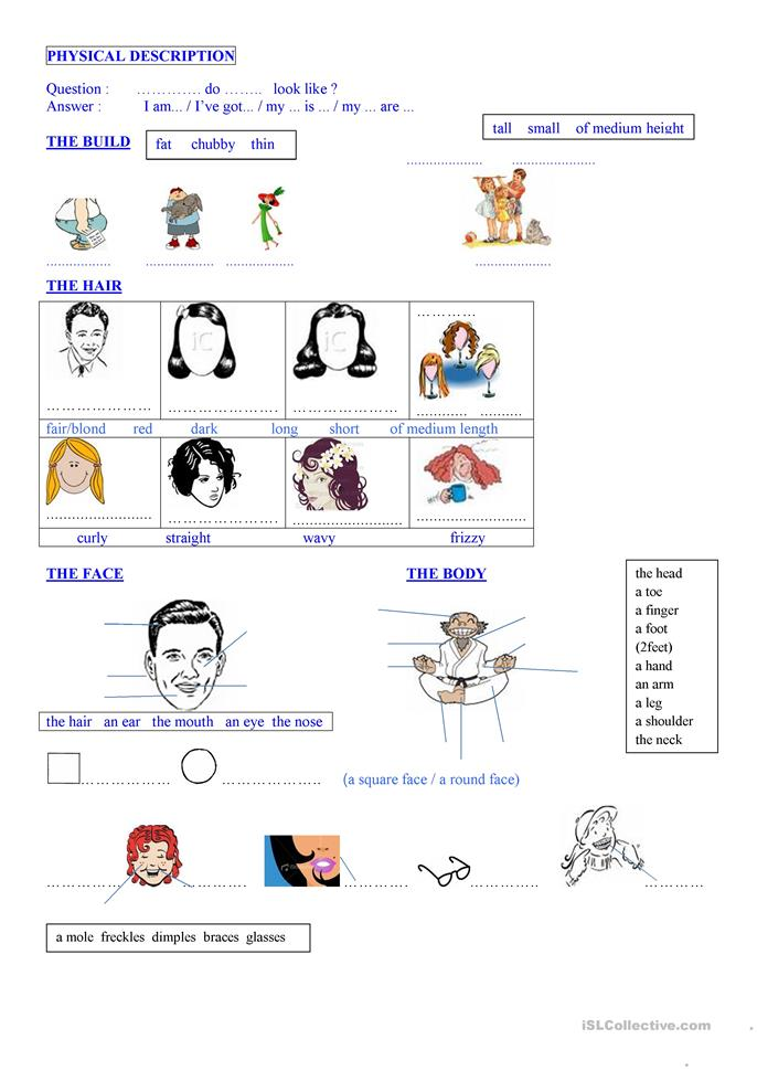 big_39809_physical_description_1 Teaching English Appearance Worksheets on word search, french physical, people personality, positive physical, versus personality, describe physical,