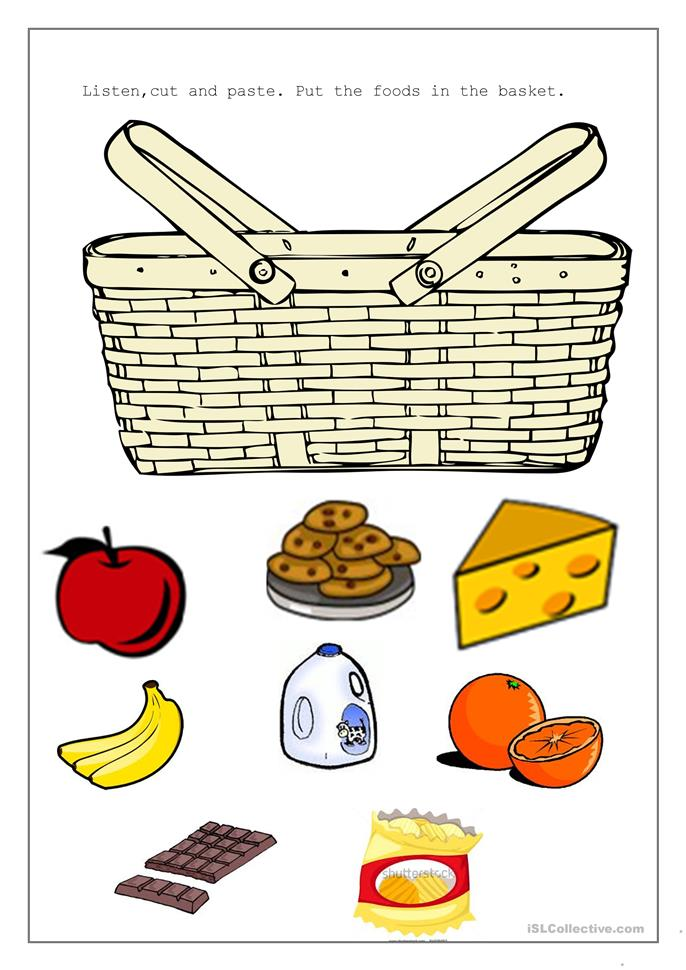 Picnic Basket Worksheet Free Esl Printable Worksheets