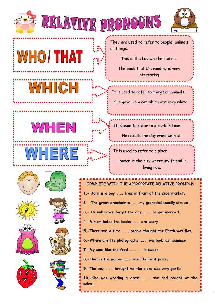RELATIVE PRONOUNS worksheet - Free ESL printable worksheets made by ...