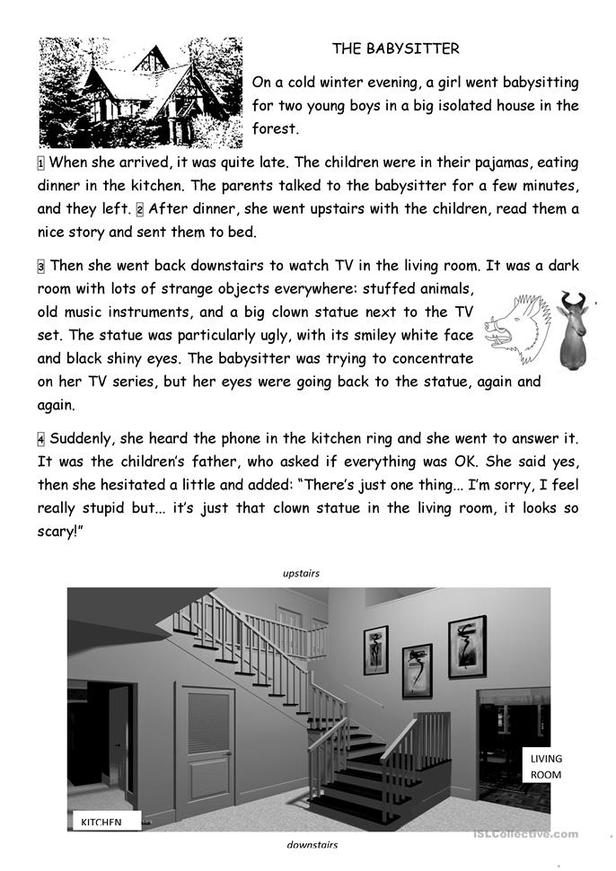 The Babysitter - ESL worksheets
